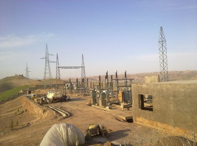 Turkmenistan to Afghanistan 110 KV Transmission lines and 110/20 KV Substation