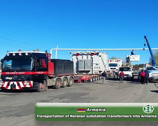Transportation of Noravan substation  Transformers into Armenia