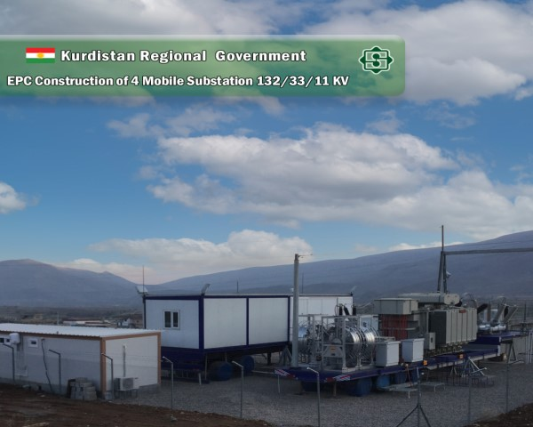 """Final delivery of the project """"four mobile substations 11/132 kV"""" in Iraqi Kurdistan Region"""
