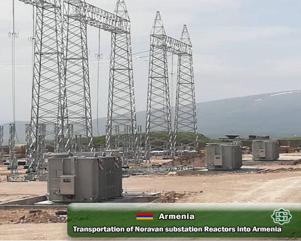 حمل راکتورهای پروژه پست نوراوان ارمنستان