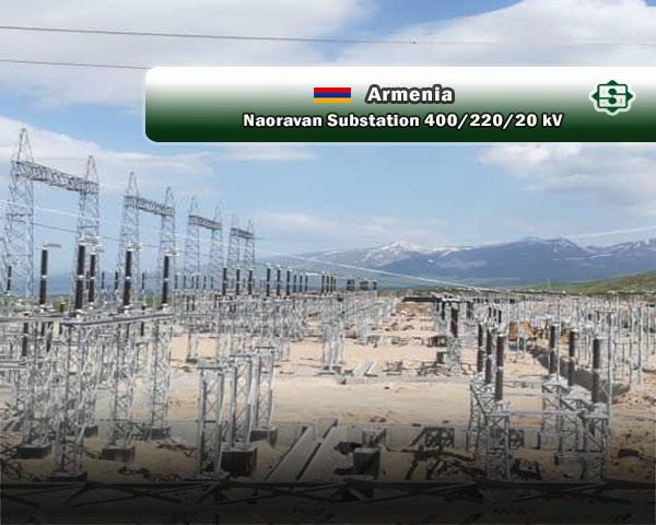 شحن محولات استطاعة محطة نوروان الأرمنیة