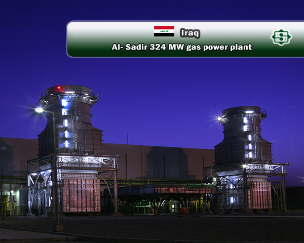 Construction of 324 MW Al-Sadir Power Plant in Iraq, a project that added 5% to the country's electricity generation capacity