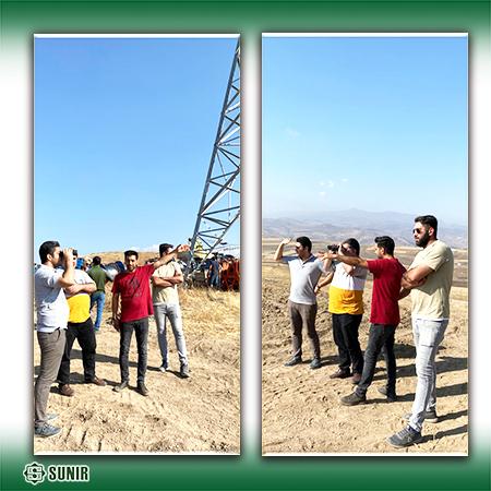 بازدید مدیران شرکت صانیر از پروژه خط و پست ارمنستان