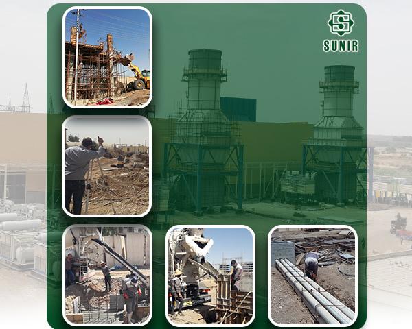 پیشبرد فعالیتهای پروژه نیروگاه گازی دبیس عراق علیرغم مشکلات و محدودیت ها